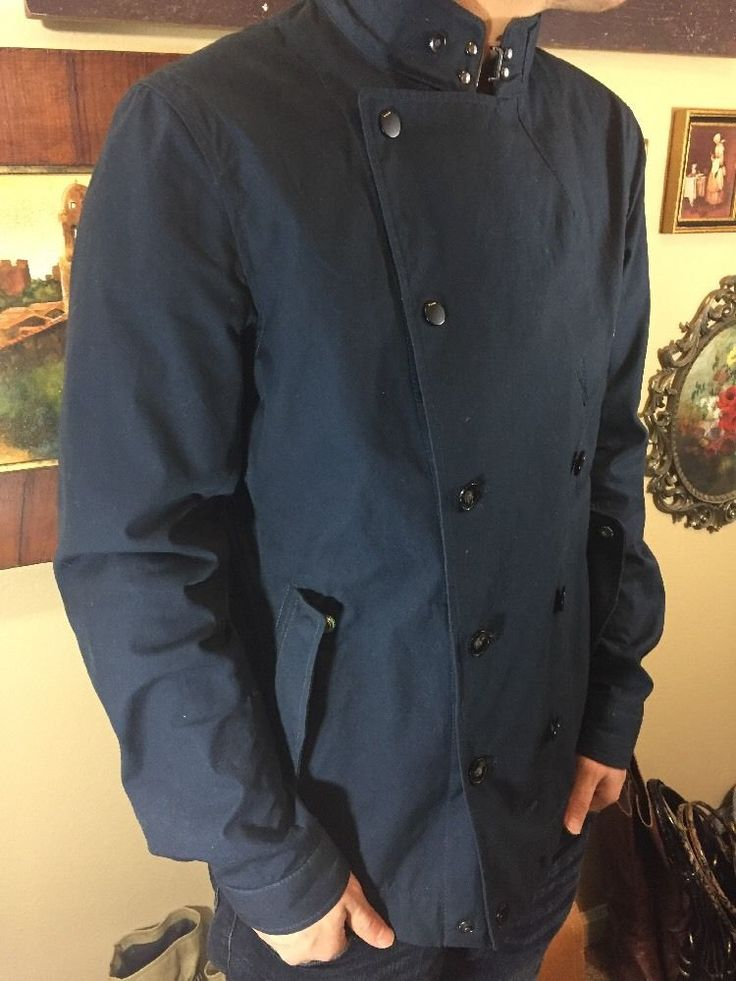 G STAR RAW CORRECT LINE Mens Navy Double Breasted Fitted Modern Urban Short Coat  | eBay