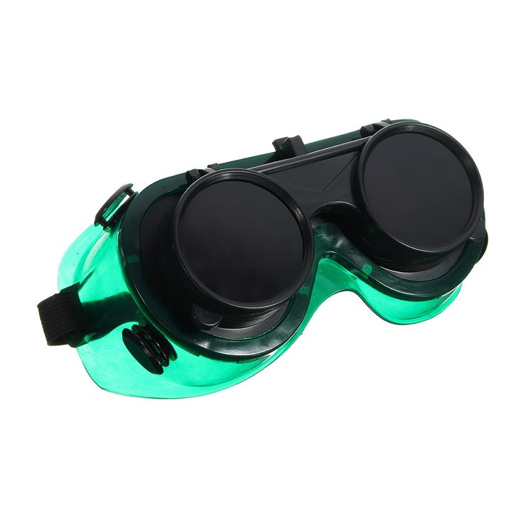 NEW Welding Cutting Welders Safety Solder Goggles Glasses Flip Up Dark Green Lenses  Workplace Safety Eye Protection #Affiliate