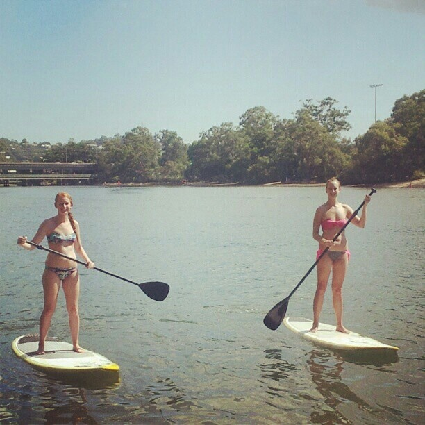 Stand up paddle boarding at Currumbin, Gold Coast. Great core body workout, fun, social and relaxing.