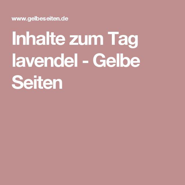 Inhalte zum Tag lavendel - Gelbe Seiten