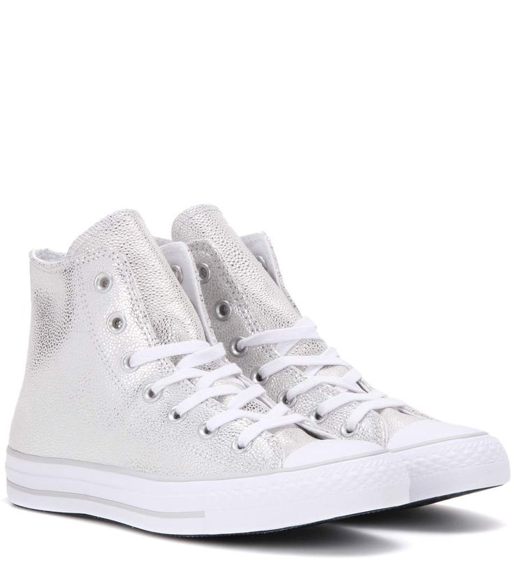 CONVERSE Chuck Taylor All Star Stingray High-Top Leather Sneakers. #converse #shoes #sneakers
