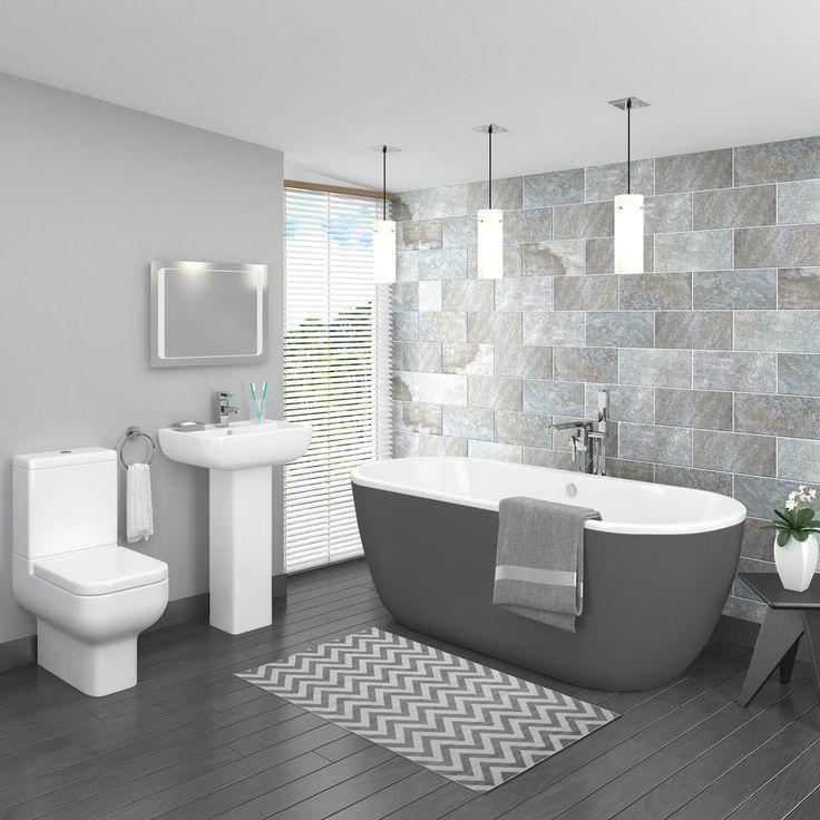 Best 25 standing bath ideas on pinterest master bath for Modern bathroom suites ideas