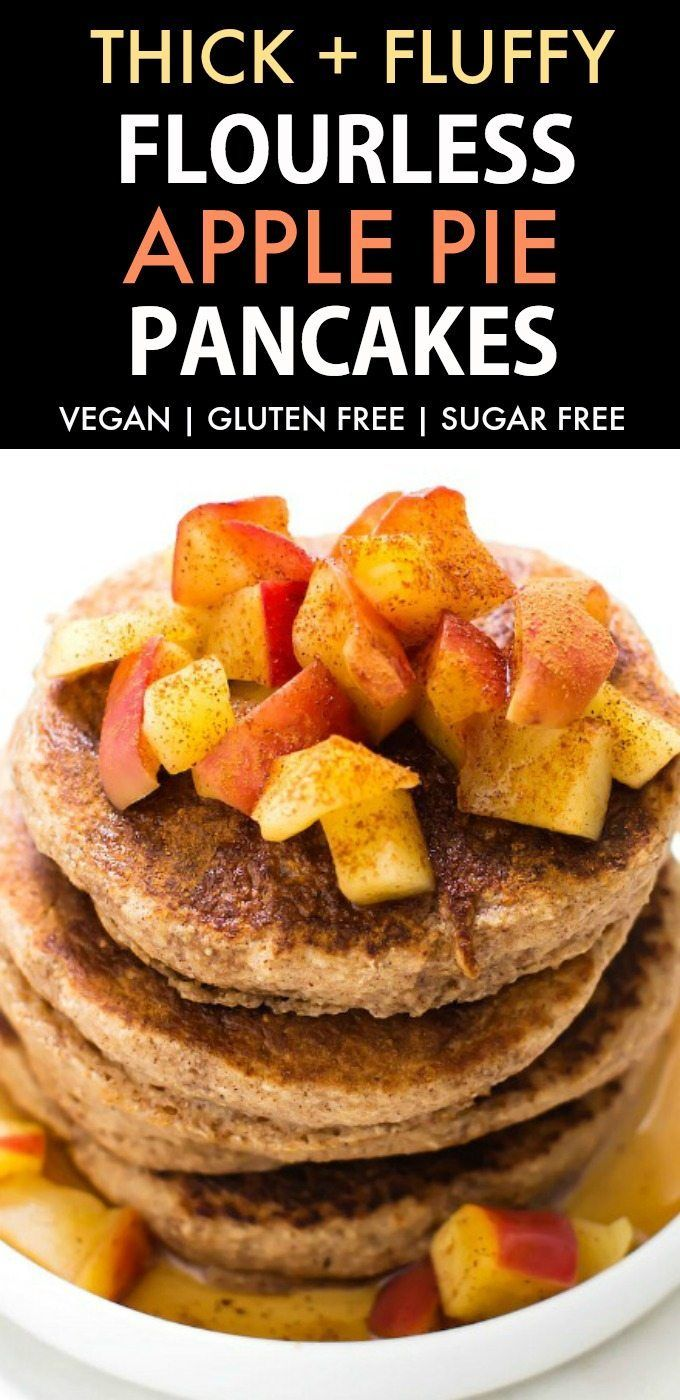 Combine with the Pumpkin pancakes?!   Healthy Fluffy Flourless Apple Pie Pancakes (Vegan, Gluten Free)