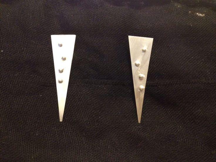 Aros triángulo de plata