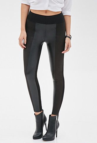 Faux Leather & Faux Suede Pants | Forever 21 - 2000119265