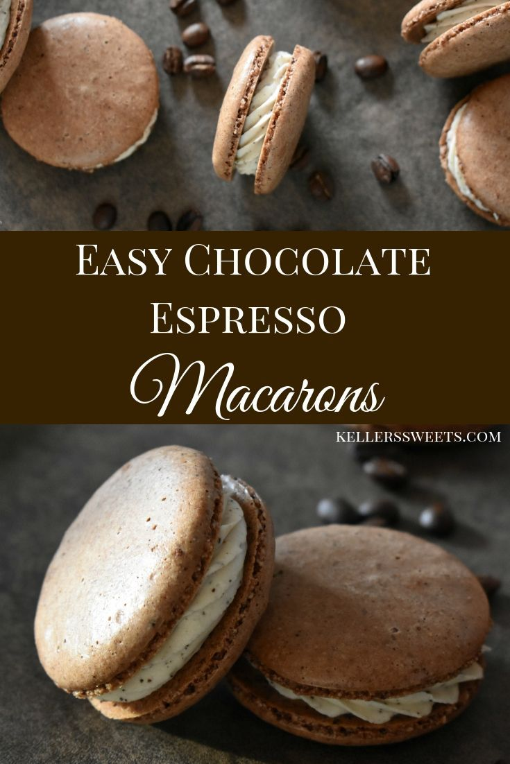 Easy Chocolate Espresso Macarons  – Recipes – #Chocolate #Easy #Espresso #macaro…