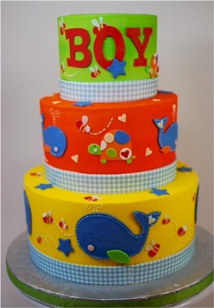 LOVE! Ahoy Baby Boy Baby Shower Cake - by cupadeecakes @ CakesDecor.com - cake decorating website