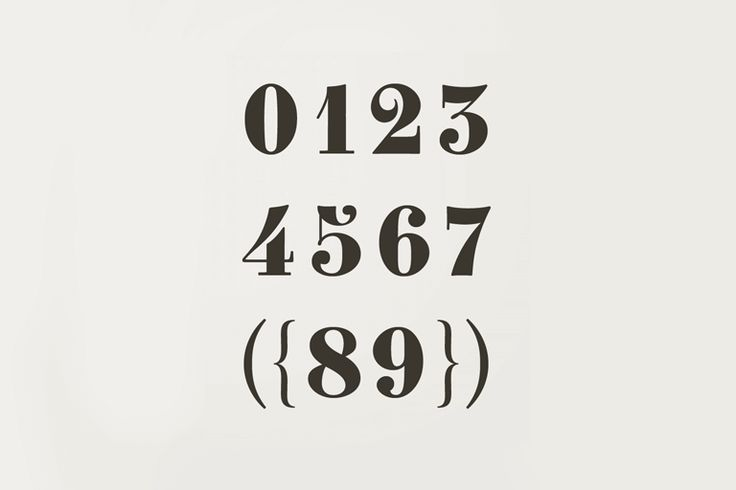 Number Fonts: 10 Stylish Examples