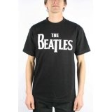 The Beatles Logo Adult / Guys T-shirt in Black, Size: X-Large, Color: Black (Apparel)By Beatles, The