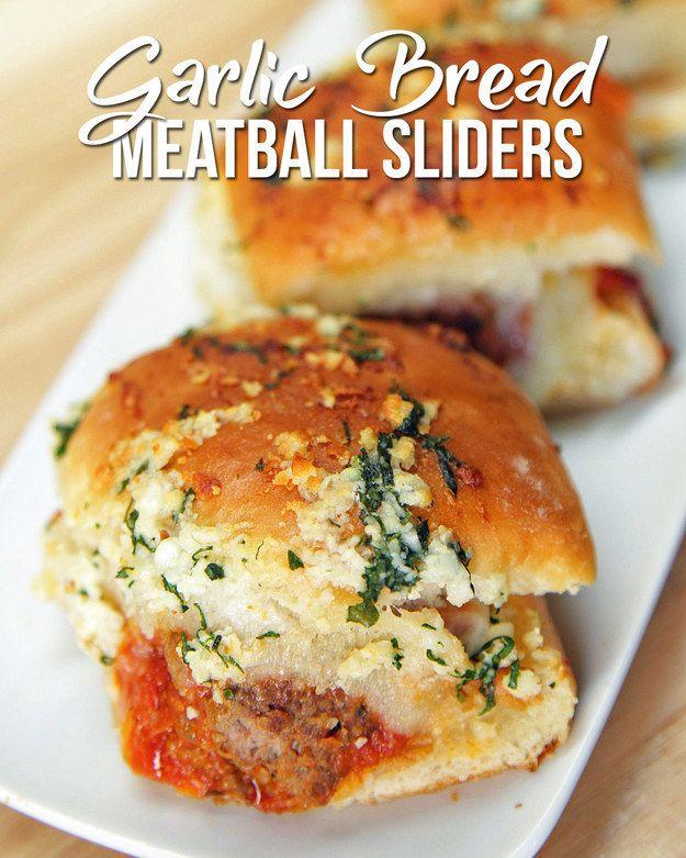 Garlic Bread Meatball Sliders