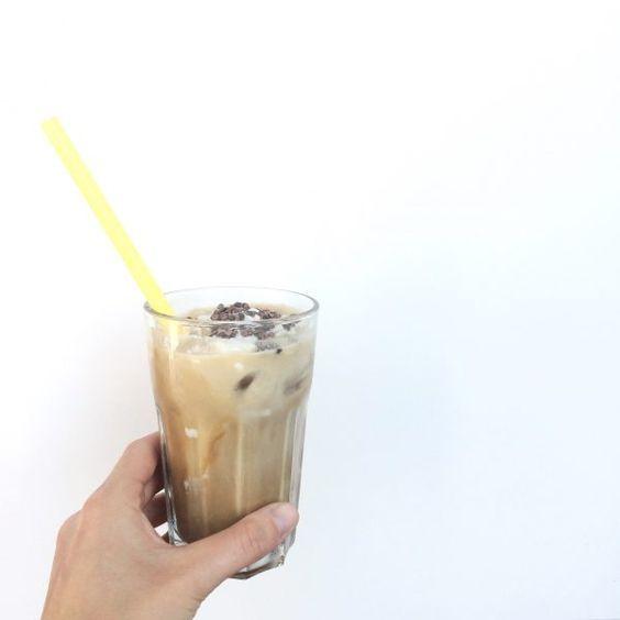 Snelle gezondere ijskoffie