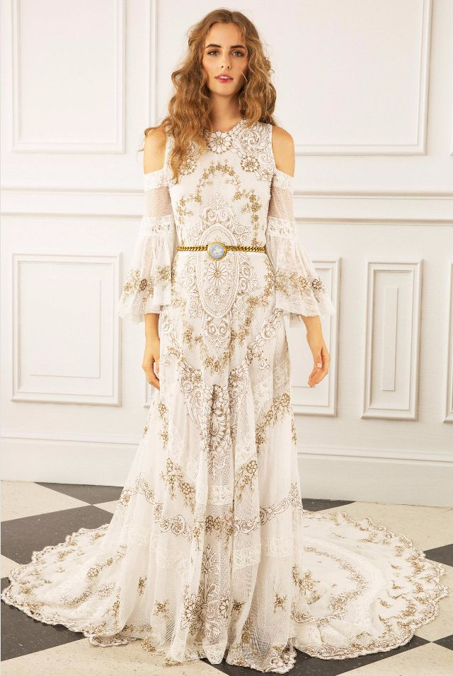 This Dreamy New Wedding Dress Collection Was Made for Indie Brides via @WhoWhatWear