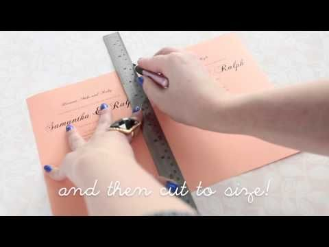 How to make an invitation with our laser-cut cards – Alex Mae