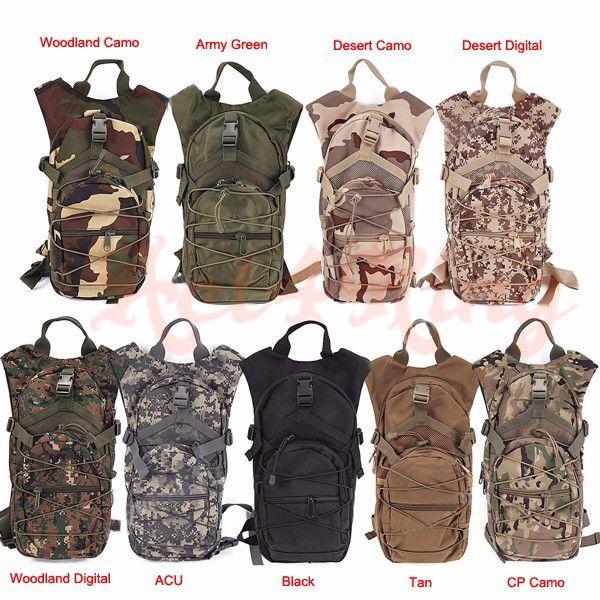 Военный велоспорт гидратации рюкзак тактический штурмовой открытый туризм охота армия сумка велоспорт рюкзак мешок воды