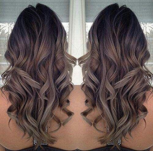 Grey brown hair