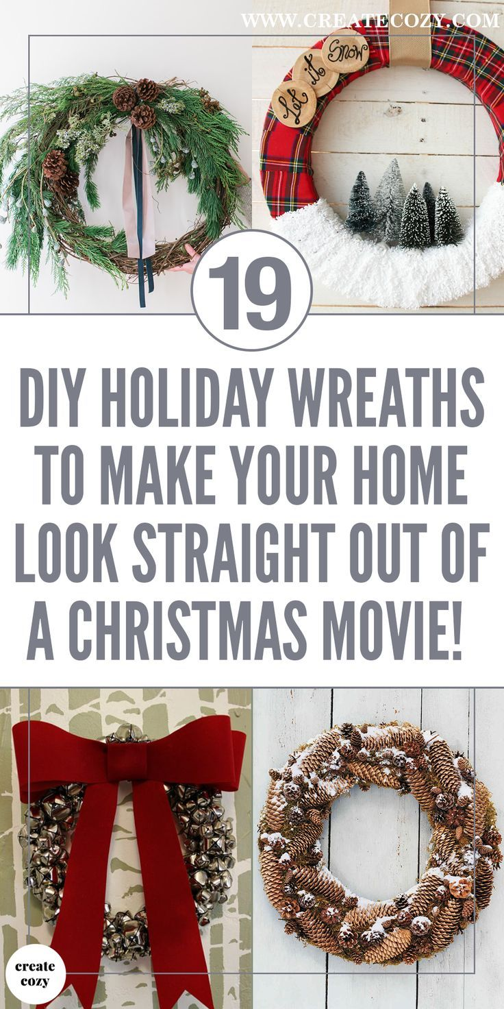 42 Beautiful Diy Holiday Wreaths To