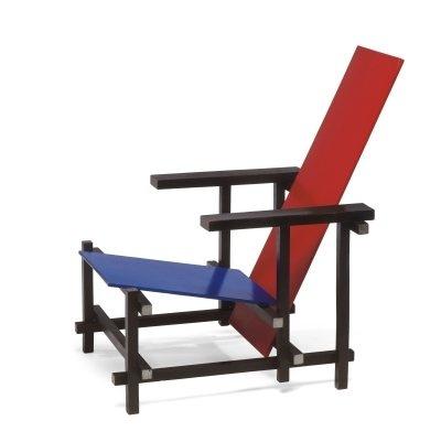 Rood-blauwe stoel, Gerrit Rietveld (1919)