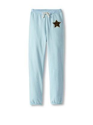 86% OFF Sweet Bazaar Girl's Gold Stars Sweatpants (Dusty Blue)