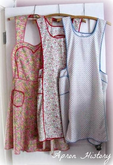 I have the white and blue one. Would wear it daily except it has to be washed sometimes! 1920's-30's. been repaired a lot, but that adds to its charm. Would like a pattern to make a few more. Found a fellow apron lover at 'Apron History'