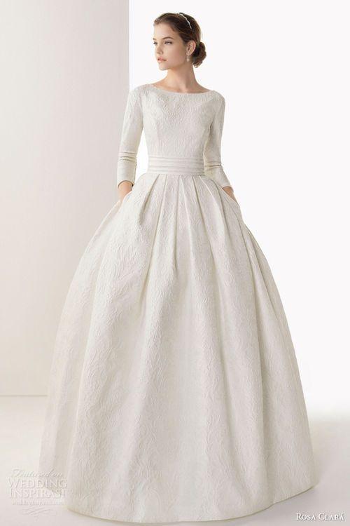 Rosa Clará 2014 wedding dresses. Perfection #WinterWedding #ScottishWedding