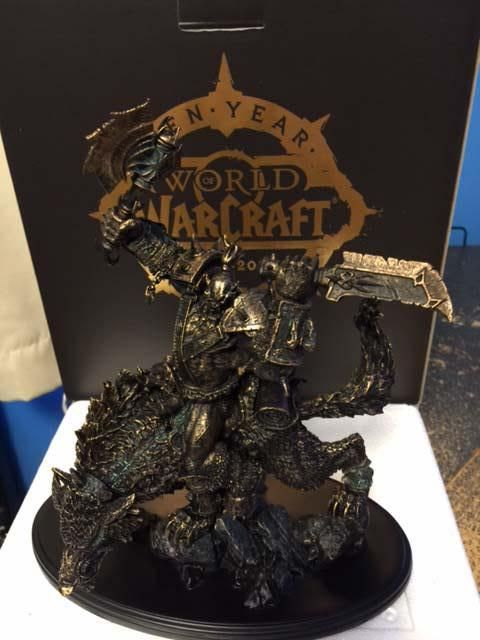 "Blizzard Gifts WoW Veterans with Their Own Orc Statue -  Share. Players in Europe will receive their gifts later this month  By Jenna Pitcher   Blizzard Entertainment is sending out Orc statues as thank you gifts to World of Warcraft players that have had an account for ten years. ""As a way to thank our most loyal World of Warcraft players, we are s..."