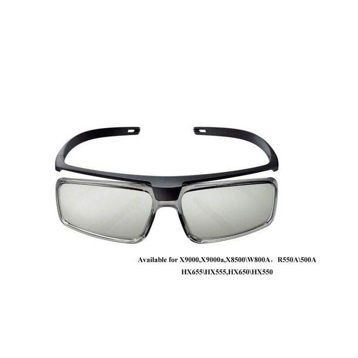 2pcs/lot TDG-500P (TDG500P) Passive 3D Glasses For Sony TV X9000,X9000a,X8500\W800A,R550A\500A,HX655\HX555,HX650\HX55