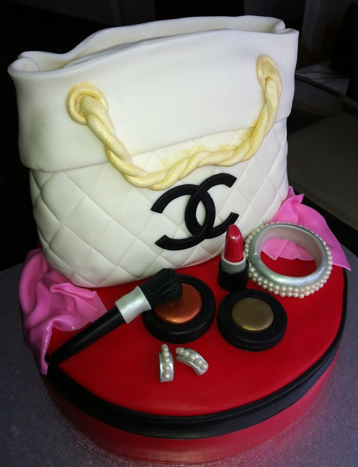 Chanel Purse Cake/Designer Handbag and Mac make-up cake