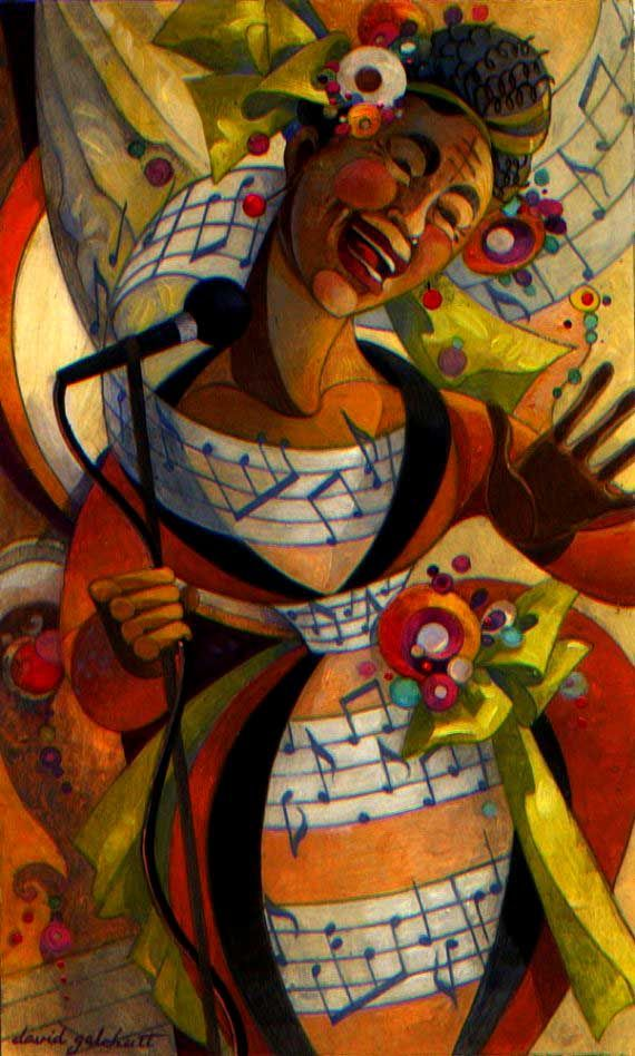 ♪ The Musical Arts ♪ music musician paintings - David Galchutt | The Songstress (artmeister on etsy)