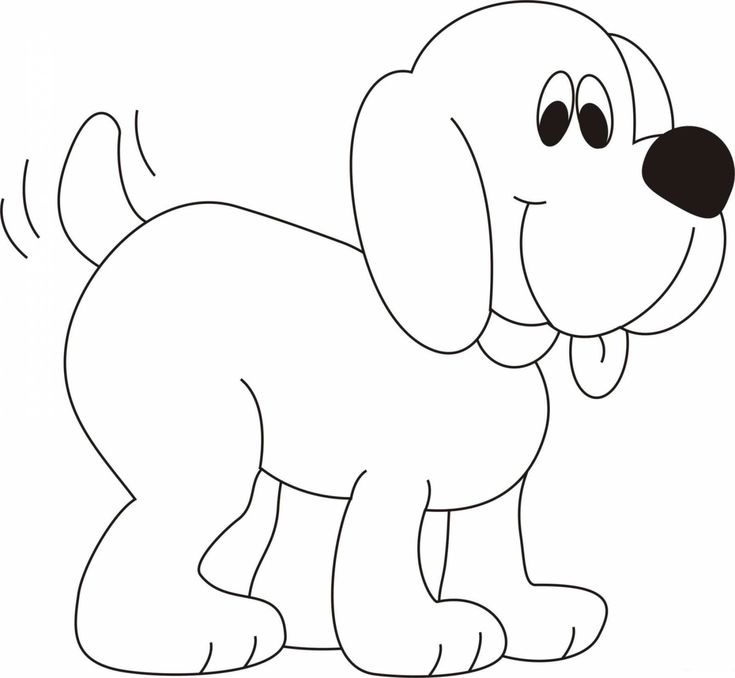 dog coloring pages for kids preschool crafts - Dog Coloring Page