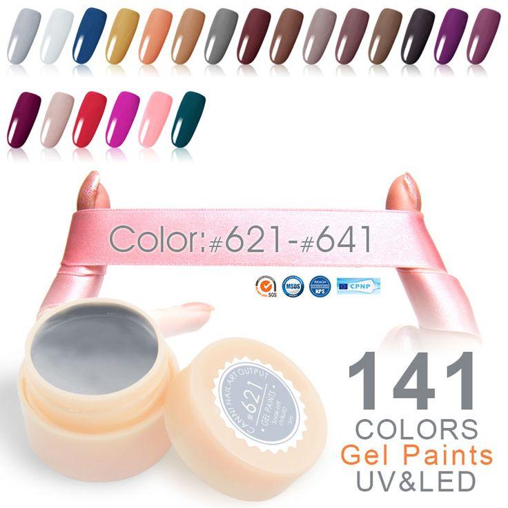 Canni hochwertige led lack gel 5 ml 141 charming reine farben tränken off Keine Chipping off oder Falten UV-LED Nagel Malerei Gel Farbe