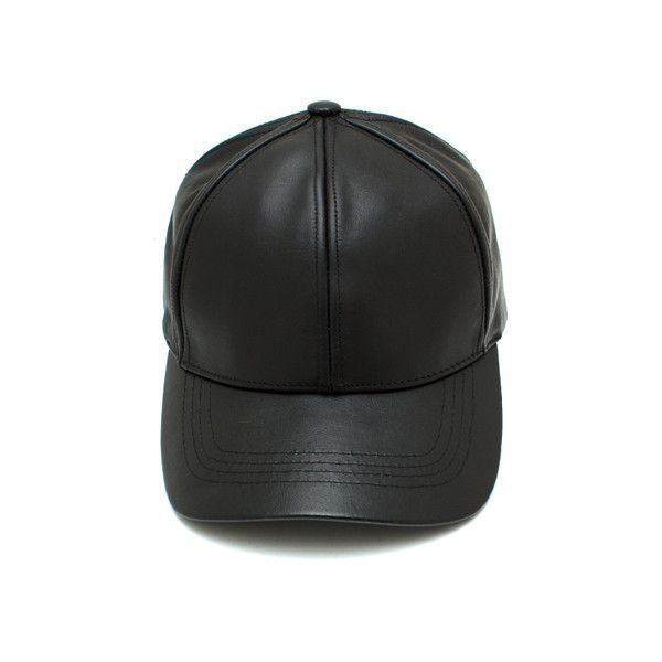 Leather Lady Baseball Cap ($26) ❤ liked on Polyvore featuring accessories, hats, headwear, snapbacks, baseball cap, baseball hats, stitch hat, leather snapback hats and leather baseball cap