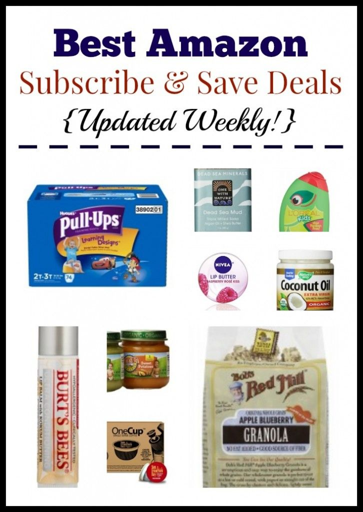Comprehensive list of the best Amazon Subscribe & Save deals – all with free shipping! Updated weekly.