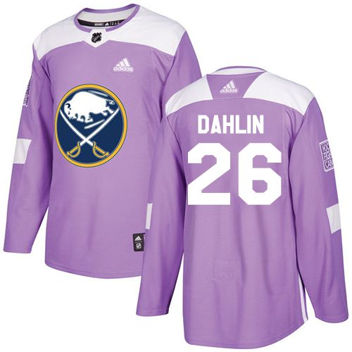 67a1dc78f Adidas Sabres #26 Rasmus Dahlin Purple Authentic Fights Cancer Stitched NHL  Jersey