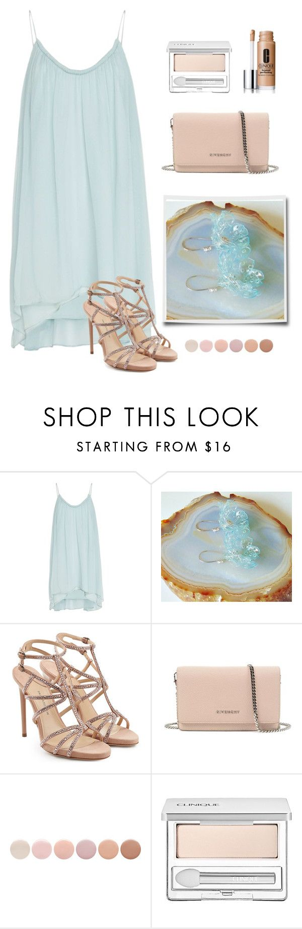 Pastel by styledonna on Polyvore featuring moda, Elizabeth and James, Paul Andrew, Givenchy, Clinique and Deborah Lippmann