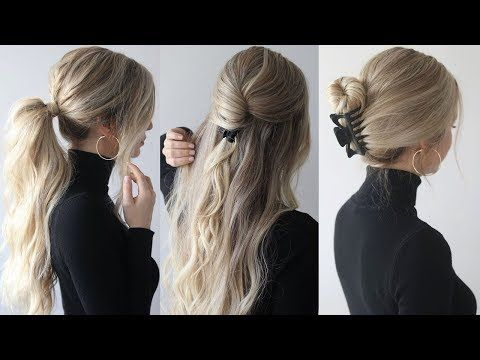 Perfect for second day hair, this collection of jaw clip hairstyles is perfect for mornings when you're short of time but still want to look stylish!