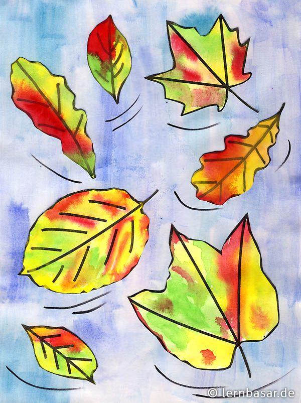 Der Herbst kommt - Zeit, mit Wasserfarben ein tolles Bild zu malen - Startpunkt DE