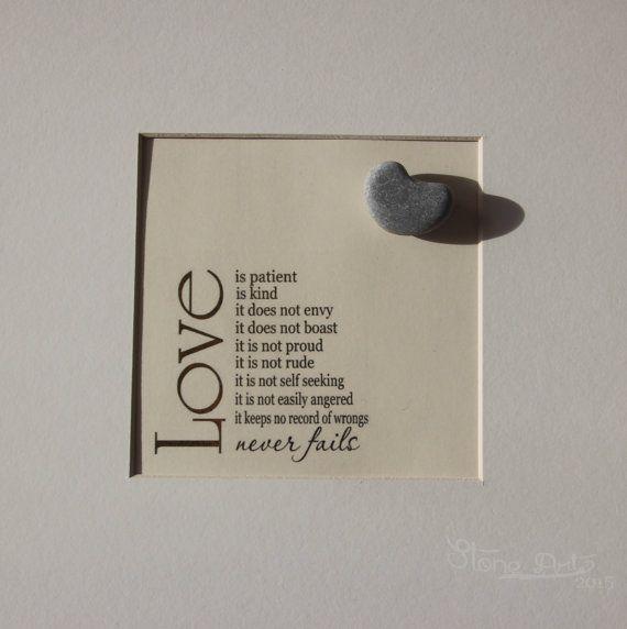 Quadro fatto con pietre Love decorazione per casa di StoneArt2015