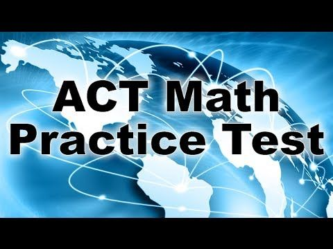 Take a look at this video for the ACT Math Practice Test! It's a quick lesson to go over a few things that are expected on the ACT Math exam!  #actprep #college