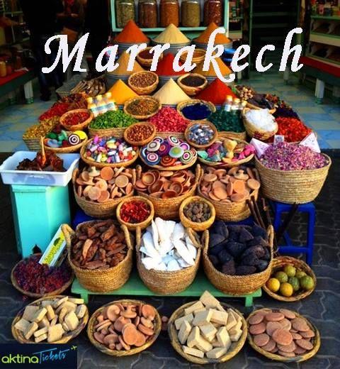 Το Μαρακές!Η ''Κόκκινη Πόλη'',όπως συνηθίζουν να τη λένε στο Μαρόκο,το διαμάντι του Νότου,με τα δαιδαλώδη δρομάκια της ιστορικής μεντίνα.Τα παζάρια,οι υπαίθριες αγορές,οι κήποι,τα παλάτια,τα αραβικά άλογα,τείχη,φοίνικες,πολυτελή ξενοδοχεία, χουρμαδιές,τα παραδοσιακά souks.Tόσα και ακόμη περισσότερα σας περιμένουν στο Μαρόκες!✈Αερ/ρικά: http://tinyurl.com/owh45bv και ☛Διαμονή: http://tinyurl.com/ntwmtsp