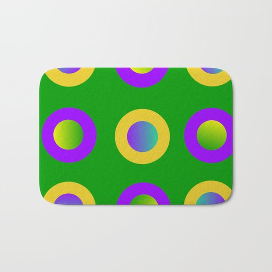 Mardi Gras Polka Dots Bath Mat by Khoncepts