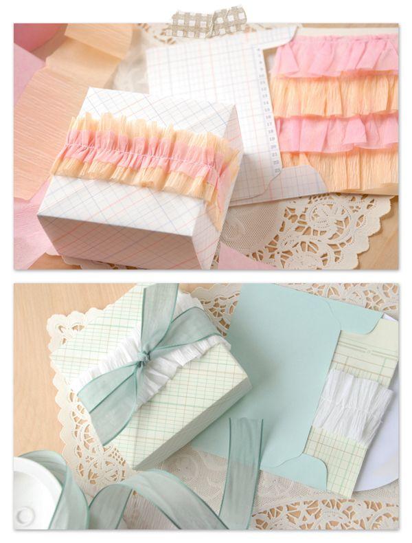pretty crepe paper DIY ruffles