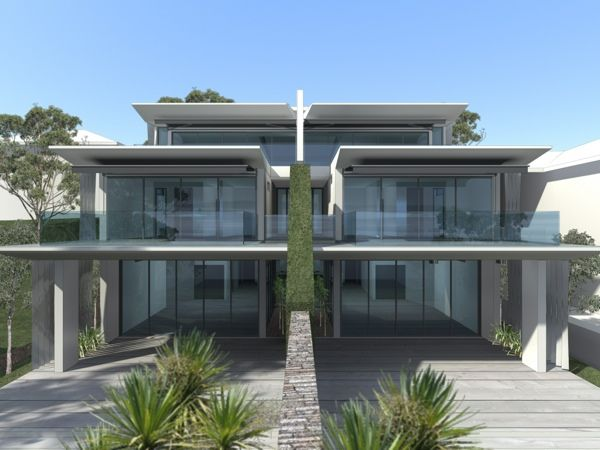 Waterfront dual occupancy residential architecture for Dual occupancy home designs sydney