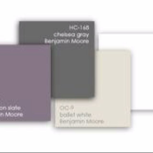 These colors are very close to our master bedroom color palette. Light gray, plum and white.
