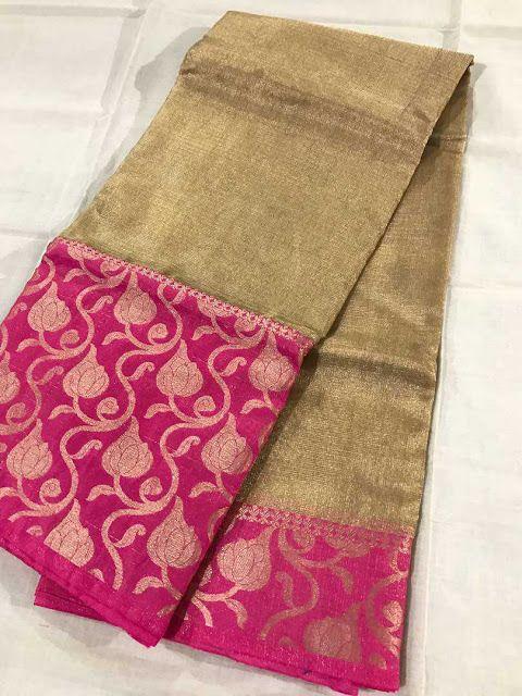 Pure golden tissue Kota sarees | Buy Online Kota Tissue Sarees | Elegant Fashion Wear