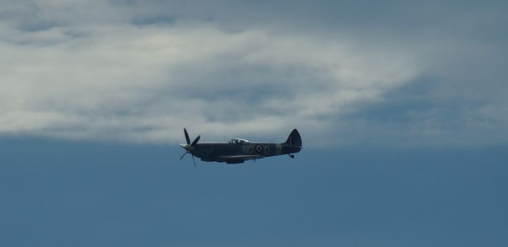 Spitfire and a blue and white, Jämi 2014.