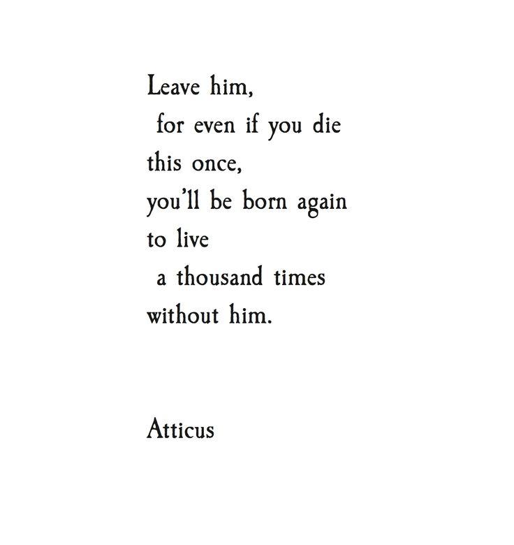 'Born Again' #atticuspoetry #atticus
