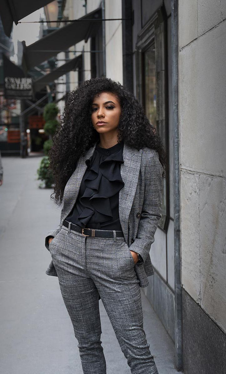Look of the Week: Grey Suit and Sock Boots - White Collar Glam |  Professional outfits, Business professional outfits, High fashion street  style