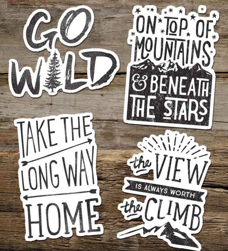 embrace your adventurous side with this vintage style typographic stickerIdeal for smooth flat surfaces like laptops, journals, windows etc., Easy to remove, Waterproof vinyl, will last 18 months outdoorsstickers measure approx 95mm at longest pointplease select which sticker you would like from the drop down menu