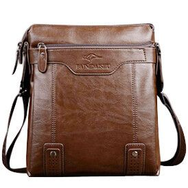 Classical stylish Men's Cross body Bag with Solid Letter Print and Zipper Design