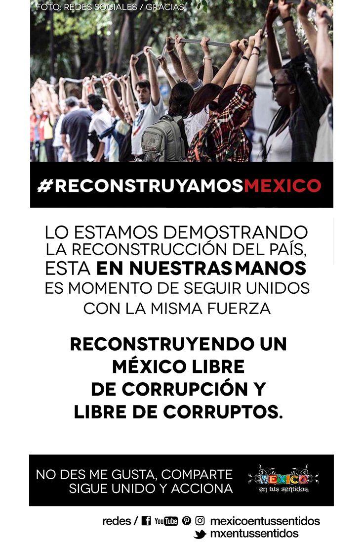 Reconstruyamos juntos un #México libre de corrupción ✊💪  Etiquetas oportunas y con gran alcance los HT  No des me gusta, comparte sigue unido y acciona   #FuerzaMéxico #AquiSeNecesita #MexicanosFuertes #MéxicoUnido #ReconstruyamosMexico